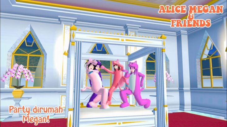 ALICE MEGAN & FRIENDS [NGINAP DI RUMAH SULTAN] || SAKURA SCHOOL SIMULATOR