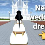 #shorts new wedding dress tutorial in sakura school simulator