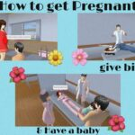 How to get pregnant, give birth & Have a baby in Sakura school simulator | YanOfficial