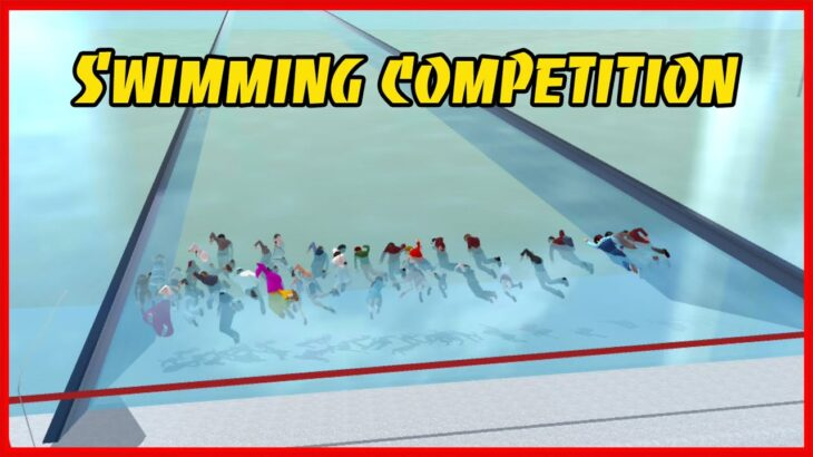 Swimming Competition Between NPCs || SAKURA School Simulator